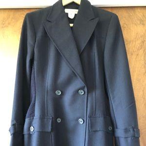 Dries Van Noten FAB flannel navy suit with knit